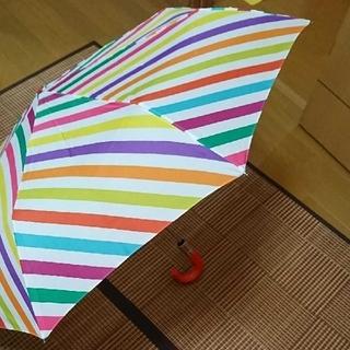 ケイトスペードニューヨーク(kate spade new york)のケイト・スペードの折り畳み ボタン式の傘です。(傘)