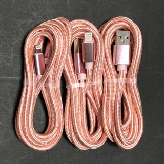 アイフォーン(iPhone)のiPhone ケーブル 充電器 2m ライトニングケーブル 3本(バッテリー/充電器)