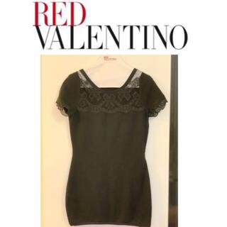 レッドヴァレンティノ(RED VALENTINO)のレッドヴァレンチノ ニット Tシャツ (ミニワンピース)