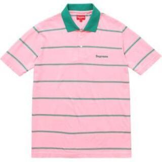 Supreme - [XL] Supreme Stripe Polo Pink