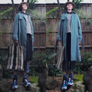 sacai - 日本製 サカイsacai チェックツイードプリーツ切替パネルシャツカットソー白黒