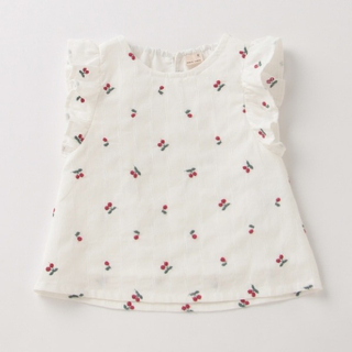 petit main - フルーツ刺繍チュニック