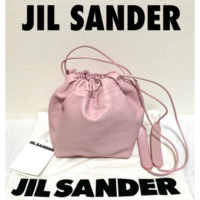 Jil Sander(ジルサンダー)の★新品未使用★限定!ジルサンダー ドローストリング巾着ピンクバッグ レディースのバッグ(ショルダーバッグ)の商品写真
