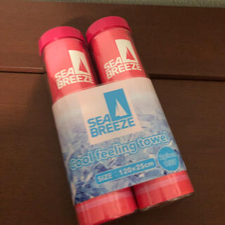 SEA BREEZE - シーブリーズ 冷感スポーツタオル ピンク