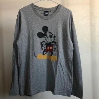 ディズニー(Disney)の古着 ミッキーマウスの刺繍 ロンT 男女兼用◇ディズニー◇M-0107(Tシャツ/カットソー(七分/長袖))