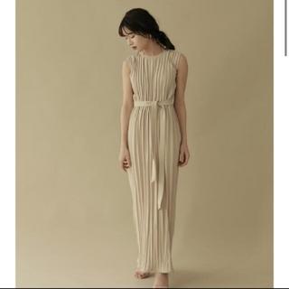Ameri VINTAGE - L'or ロル belted pleats dress