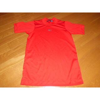 ミズノ(MIZUNO)の160★ミズノmizunoベースボールTシャツポリエステル半袖T赤★少年野球部活(ウェア)