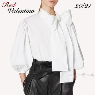 レッドヴァレンティノ(RED VALENTINO)の新品タグ付【RED VALENTINO】2020-21コットンポプリントップス(シャツ/ブラウス(長袖/七分))
