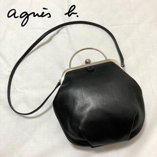 agnes b. - 【美品】高級感 アニエスベー  ショルダーバッグ がま口 レザー ブラック 希少