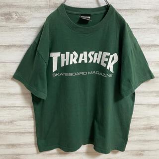 スラッシャー(THRASHER)の【人気】スラッシャー Tシャツ デカロゴ プリントロゴ オーバーサイズ  L(Tシャツ/カットソー(半袖/袖なし))