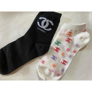 CHANELノベルティ靴下2足セット