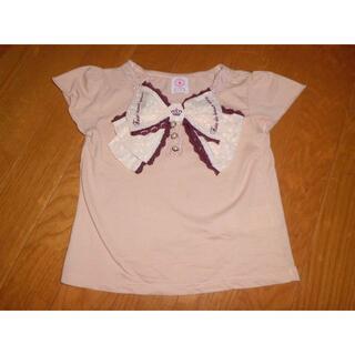 axes femme - 110/S★アクシファムキッズ★大きなリボンTシャツ半袖Tシャツカットソー