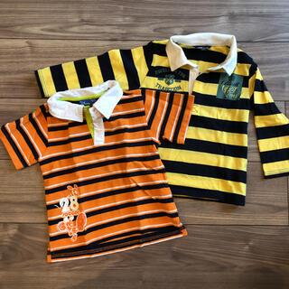 Disney - ミッキー 半袖 ポロシャツ 2枚セット 長袖