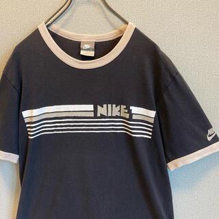 NIKE - 90s NIKE ゴツナイキ リンガー Tシャツ ブラック ゆるだぼ
