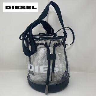 DIESEL - DIESEL ディーゼル クリアバッグ 2way ブラック 透明 バッグ
