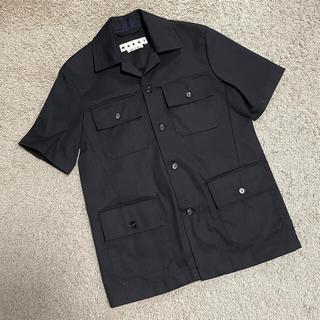 Marni - 値下げ!マルニ marni 半袖シャツ ブラック 44サイズ 新品未使用