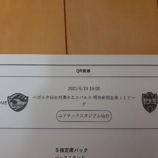 6月23日ベガルタ仙台VS清水エスパルス S指定席バックペア(サッカー)