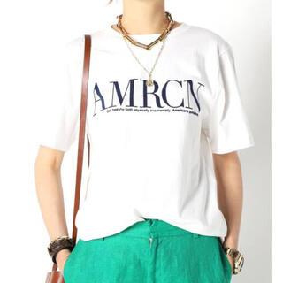 DEUXIEME CLASSE - 新品☆ 【AMERICANA/アメリカーナ】 AMRCN Tシャツ
