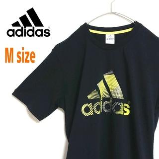 adidas - adidas アディダス パフォーマンス ビッグロゴ 黒 ネオンカラー Tシャツ