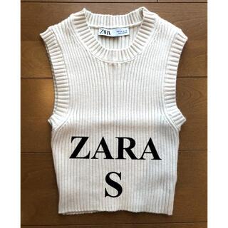ZARA - ZARA(ザラ) ニットタンクトップ (S)*美品*トレンド*