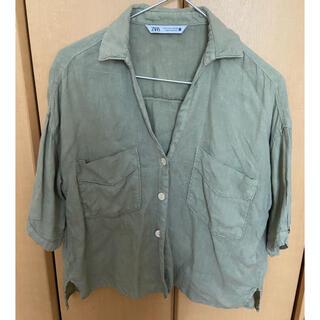 ZARA - 涼しげなシャツ