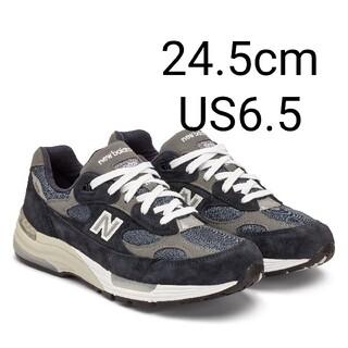 ニューバランス(New Balance)の24.5cm new balance m992 gg navy ネイビー(スニーカー)