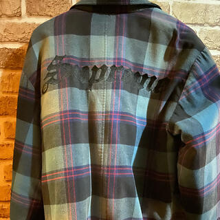 Supreme - supreme quilted flannel shirts