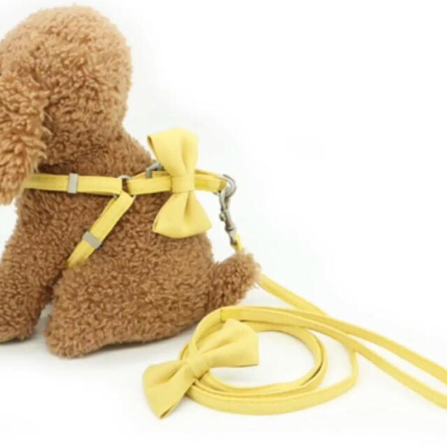 犬 リボンリード ハーネス ピンク その他のペット用品(犬)の商品写真
