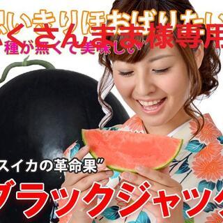 ふくさんまま様専用 ④最高級・最高品質の種無しスイカ【ブラックジャック】(フルーツ)
