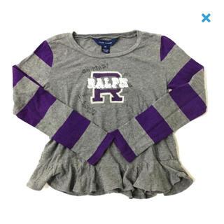 ラルフローレン(Ralph Lauren)のラルフローレン☆used☆6y☆裾ふりる長袖カットソー(Tシャツ/カットソー)