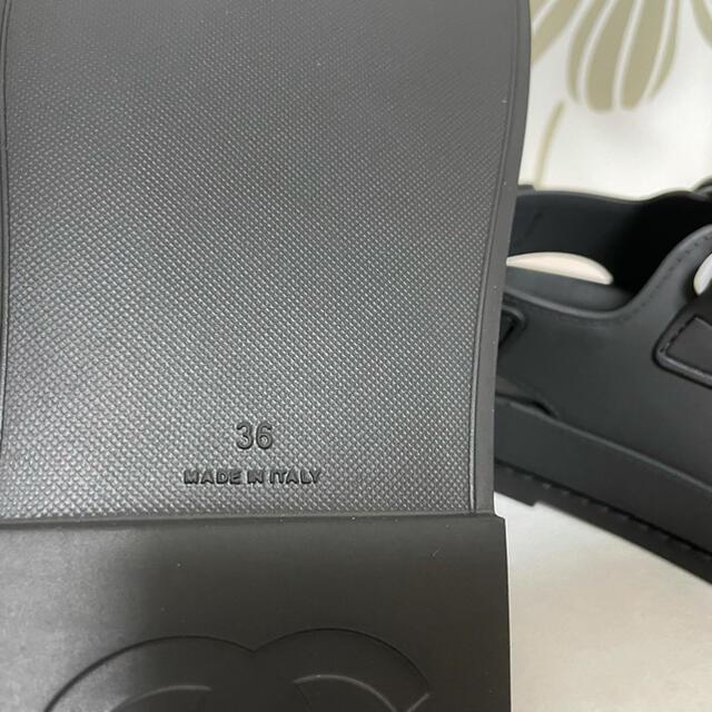 CHANEL(シャネル)のほぼ未使用 試着のみ極美品 シャネル スポーツサンダル  ブラック サイズ36 レディースの靴/シューズ(サンダル)の商品写真