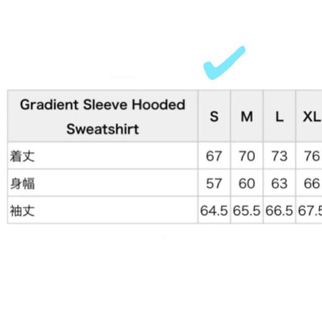 Supreme(シュプリーム)のSupreme gradient sleeve hooded シュプリーム メンズのトップス(パーカー)の商品写真
