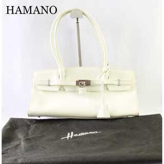 ハマノ★本革 レザー ハンドバッグ フォーマル 上質 オフ白 高級 (ハンドバッグ)
