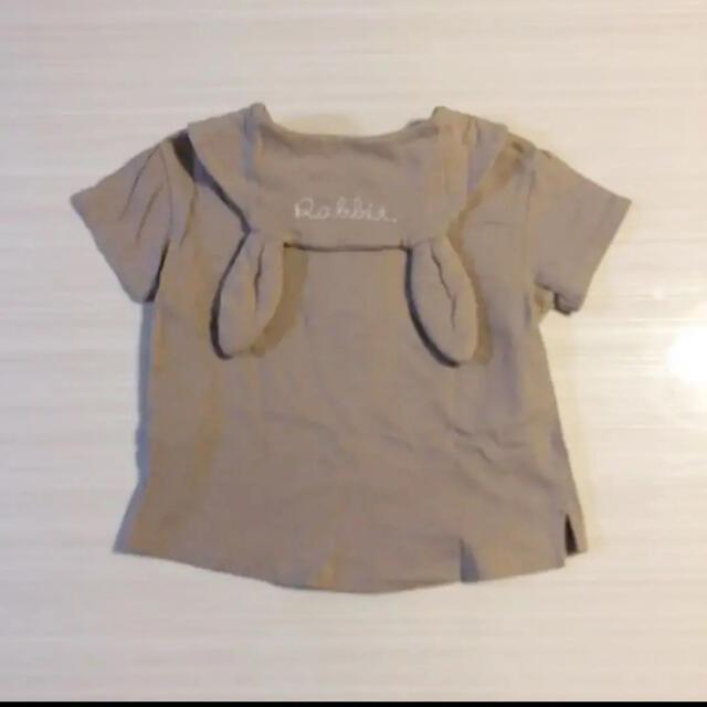 futafuta(フタフタ)のtete a tete  うさ耳 半袖 100 キッズ/ベビー/マタニティのキッズ服女の子用(90cm~)(Tシャツ/カットソー)の商品写真