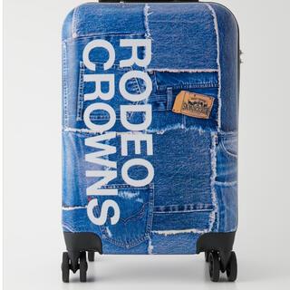 ロデオクラウンズワイドボウル(RODEO CROWNS WIDE BOWL)のロデオクラウンズ DENIM PATCHWORK CARRY(スーツケース/キャリーバッグ)