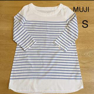 ムジルシリョウヒン(MUJI (無印良品))の無印良品 ボーダーワンピース チュニック S(チュニック)