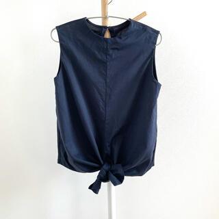 ミラオーウェン(Mila Owen)のMila Owen  裾結びデザイン ノースリーブプルオーバー(カットソー(半袖/袖なし))