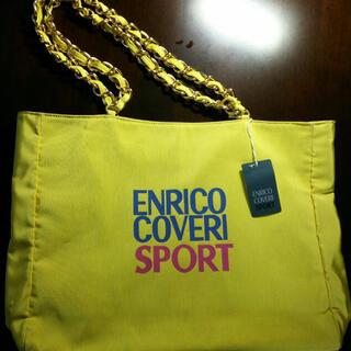 エンリココベリ(ENRICO COVERI)のエンリココベリENRICOCOVERI トートバッグ 黄色 未使用品(トートバッグ)