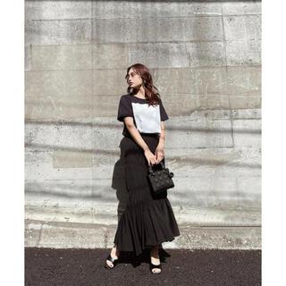 rienda - シャーリングギャザーマーメイドスカート