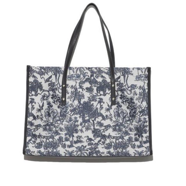 snidel(スナイデル)のsnidel スナイデル ジャガードトート 青  レディースのバッグ(トートバッグ)の商品写真