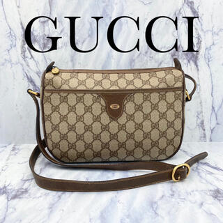 Gucci - オールドグッチ★GG ショルダーバッグ ブラウン ユニセックス
