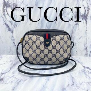 Gucci - 【美品】オールドグッチ★ミニ ショルダーバッグ ポシェッシェリーライン ネイビー