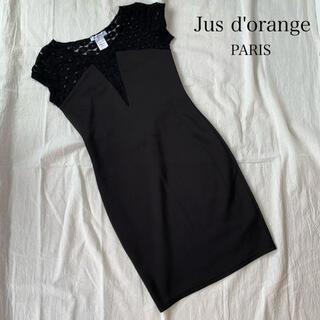 GRACE CONTINENTAL - フランスインポート Jus d'orange ブラック レースワンピース