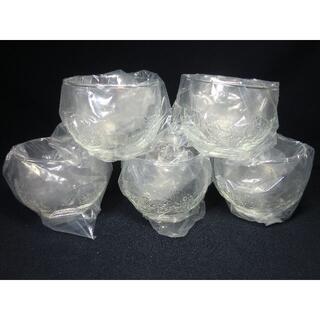 昭和レトロ/耐熱ガラス/グラスか湯吞み/木ノ葉彫り/レア(グラス/カップ)