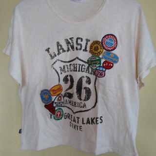 ラフ(rough)のrough ワッペン ショート丈ワイドTシャツ 半袖(Tシャツ(半袖/袖なし))
