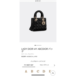 Christian Dior - 新品未使用 ディオール レディディオール MY ABCDIOR バッグ