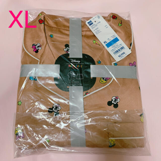 GU - GU パジャマ ディズニー サテン ミッキー ミニー XL