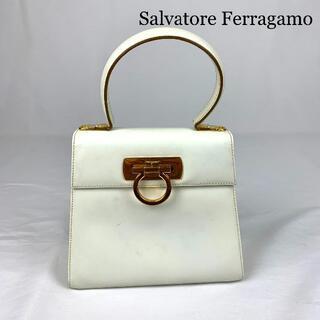 Salvatore Ferragamo - Salvatore Ferragamo ガンチーニ レザー ハンドバッグ