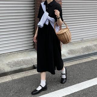 トゥデイフル(TODAYFUL)のfashiru ポロロングOP(ロングワンピース/マキシワンピース)