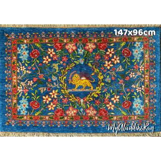 カシュガイ族 手織り絨毯 147×96cm